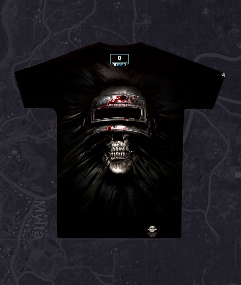 a05b32c2 Cool 3D Pubg Steel Helmet T-shirt Playerunknown'S Battlegrounds Tee shirt  for Coulple