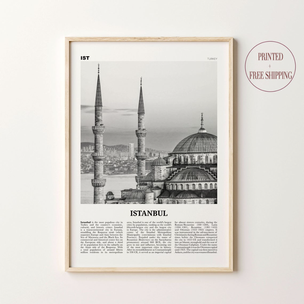 Istanbul Print Black And White Istanbul Wall Art Istanbul Etsy City Wall Art Poster Prints City Prints