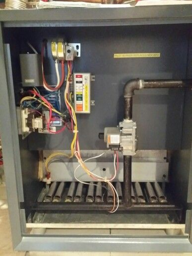 A well maintained Weil McLain CGI 7 mid efficient boiler | Hydronic ...