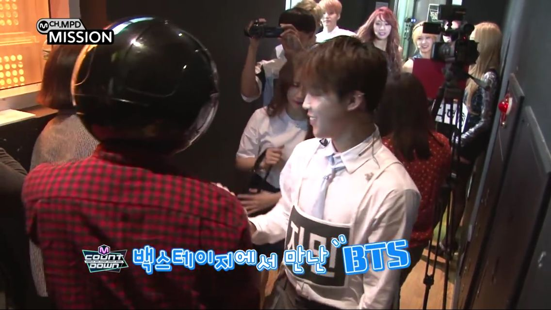 BTS- MCountdown Back Stage