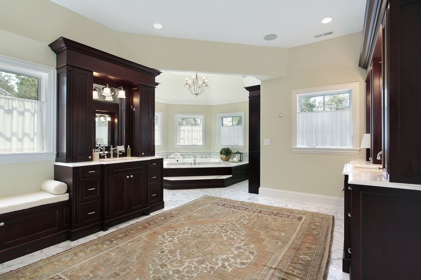 Custom Master Bathroom Design Ideas For Custom - Rugs for large bathrooms for bathroom decorating ideas