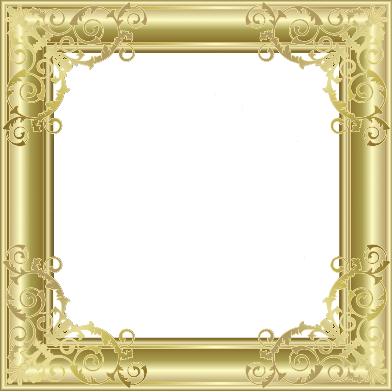 Gold Transparent PNG Photo Frame | Kunterbunt | Pinterest | Goldene ...