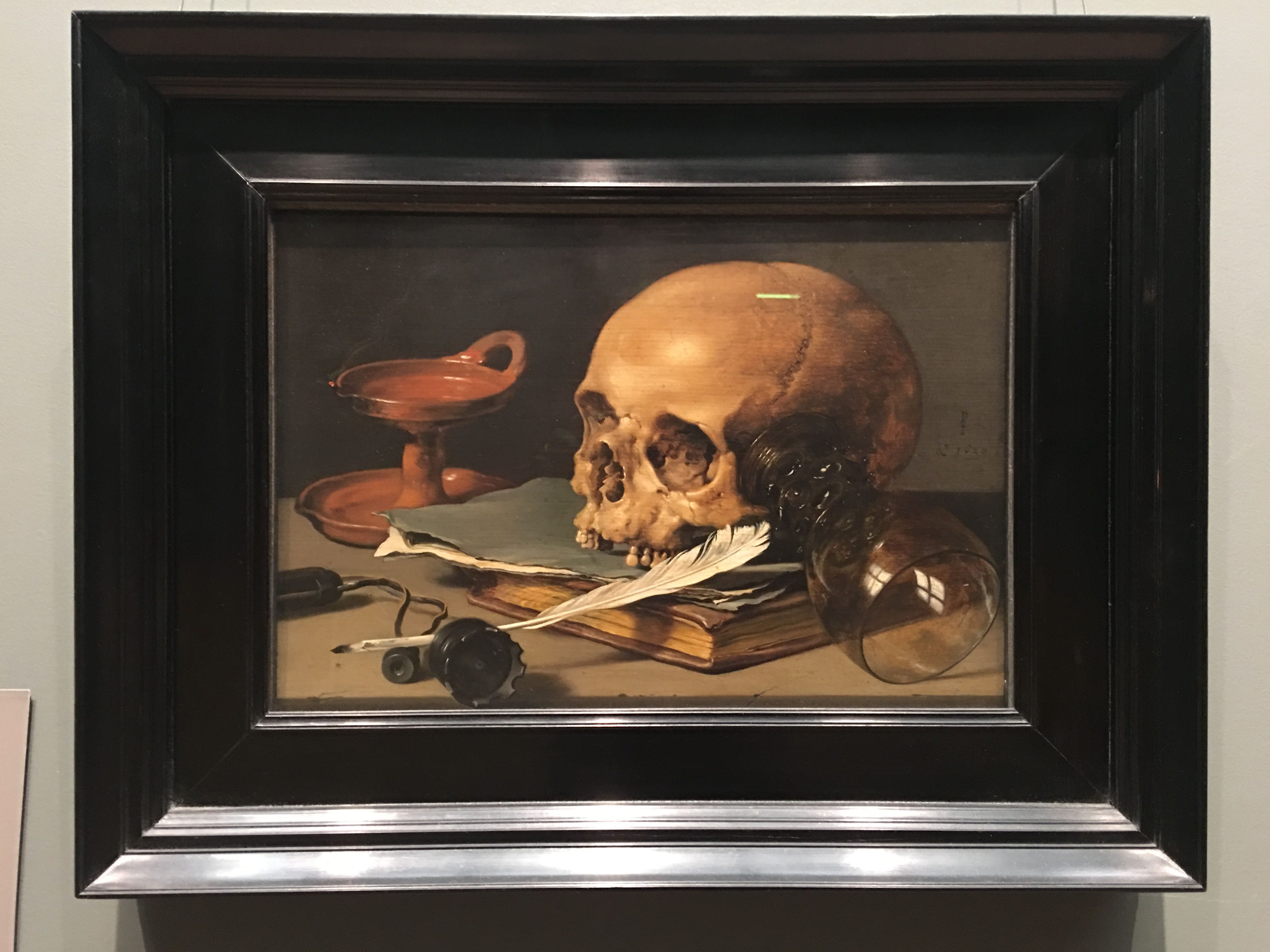 still life with skull and writing Buy pieter claesz - still life with a skull and a writing quill (1628), 60 x 40 cm (more sizes available), canvas print stretched and framed.