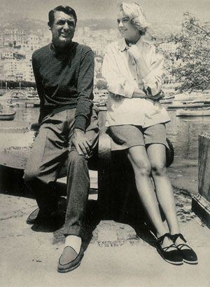 Grace Kelly & Cary Grant... and espadrilles!