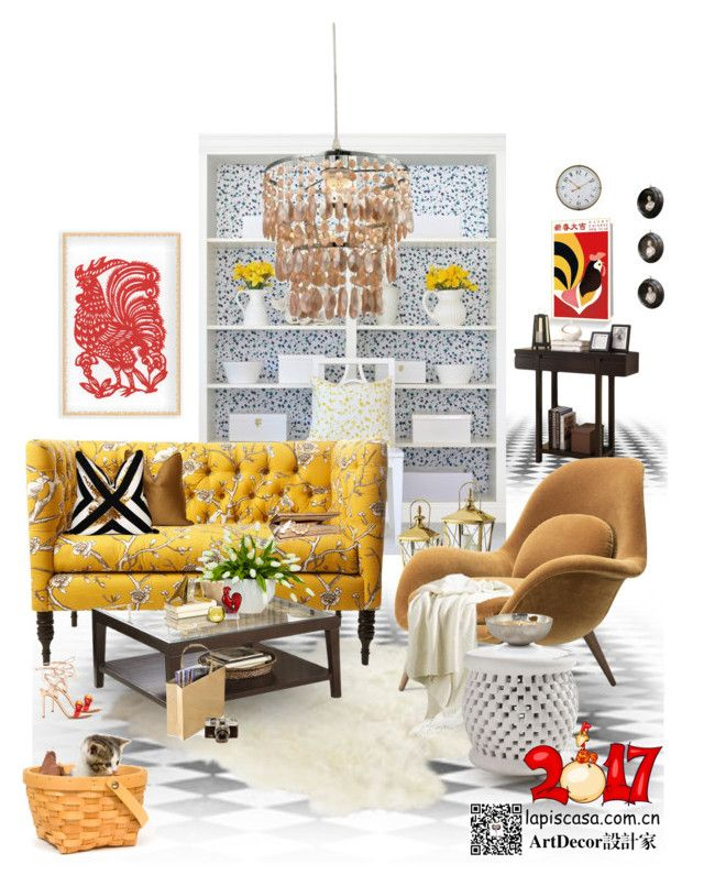 """""""Untitled #62"""" by annie-qiu on Polyvore featuring interior, interiors, interior design, home, home decor, interior decorating, Frontgate, Homelegance, Carl Auböck and Lux-Art Silks"""