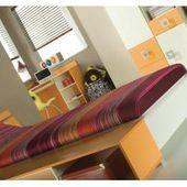 Photo of Nedsatte hjemmetekstiler ungdomsrom lowboard Namur 21, farge: oransje / beige …
