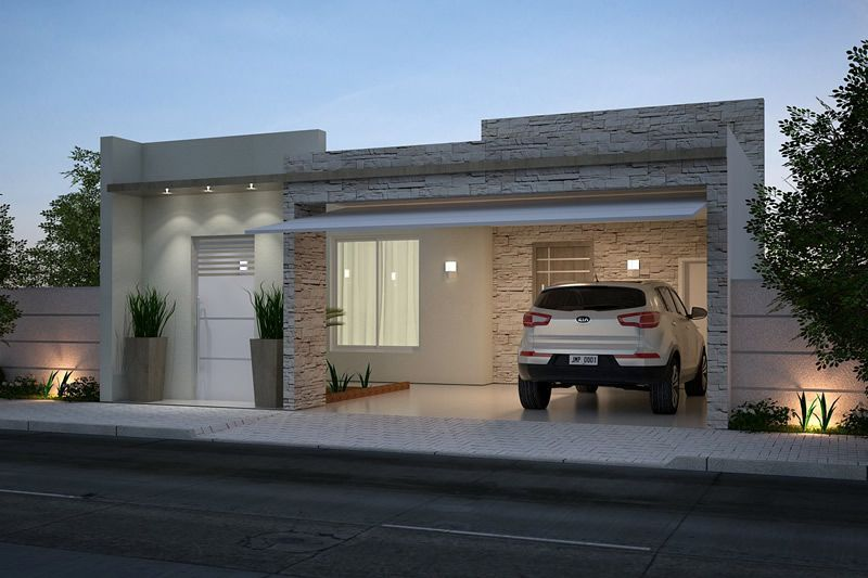 Planta de casa com cozinha americana casas pinterest for Casas modernas fachadas bonitas