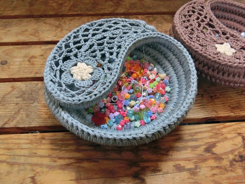 Crochet bowl yin yang paisley jewelry dish 6 crochet bowl crochet bankloansurffo Images