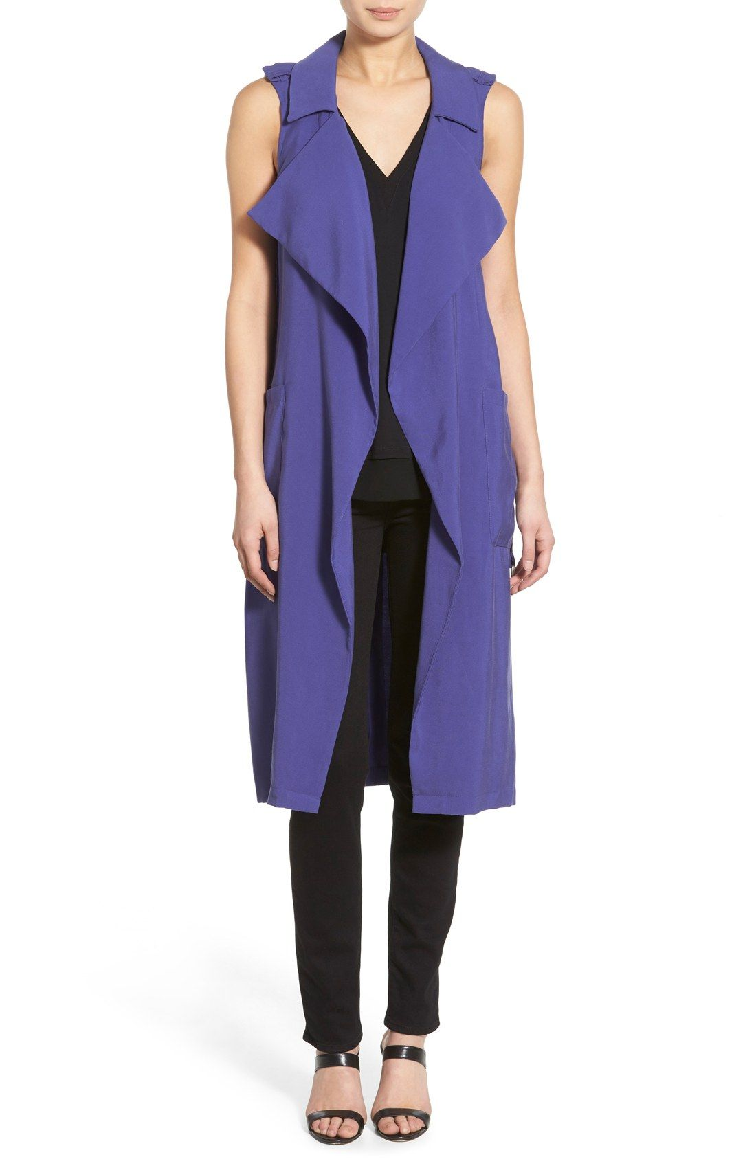 Trouvé Long Trench Vest at Nordstrom.com