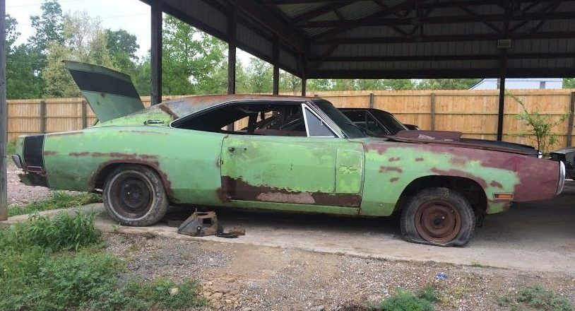No reserve 1970 dodge charger rt abandoned cars dodge