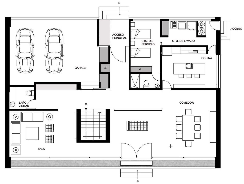 Gallery Of Gp House Bitar Arquitectos 14 Home Layout Design Small House Layout House Layout Design