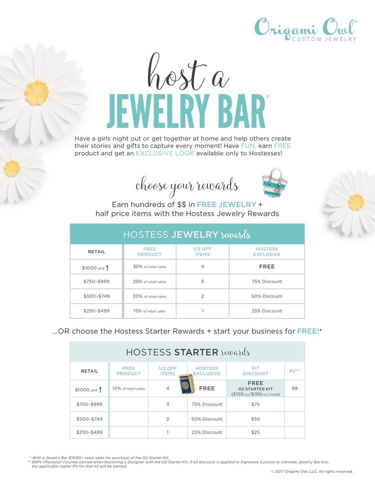 Origami Owl Hostess rewards! Contact me to schedule your - personalized invoices