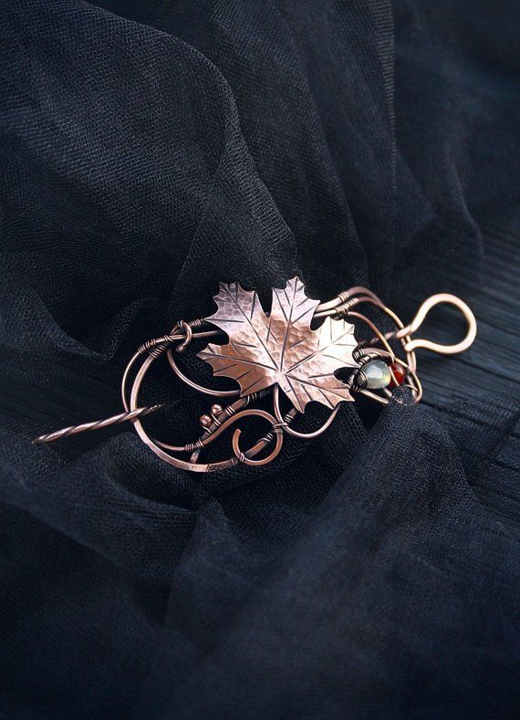 Gold silver look hair clip brass metal Hair accessories jewelry Mothers day gift