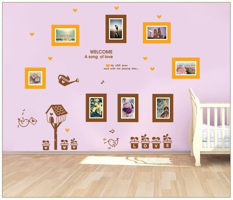 5 style Removable Photo Frame Wall Stickers Living Room Sofa TV ...