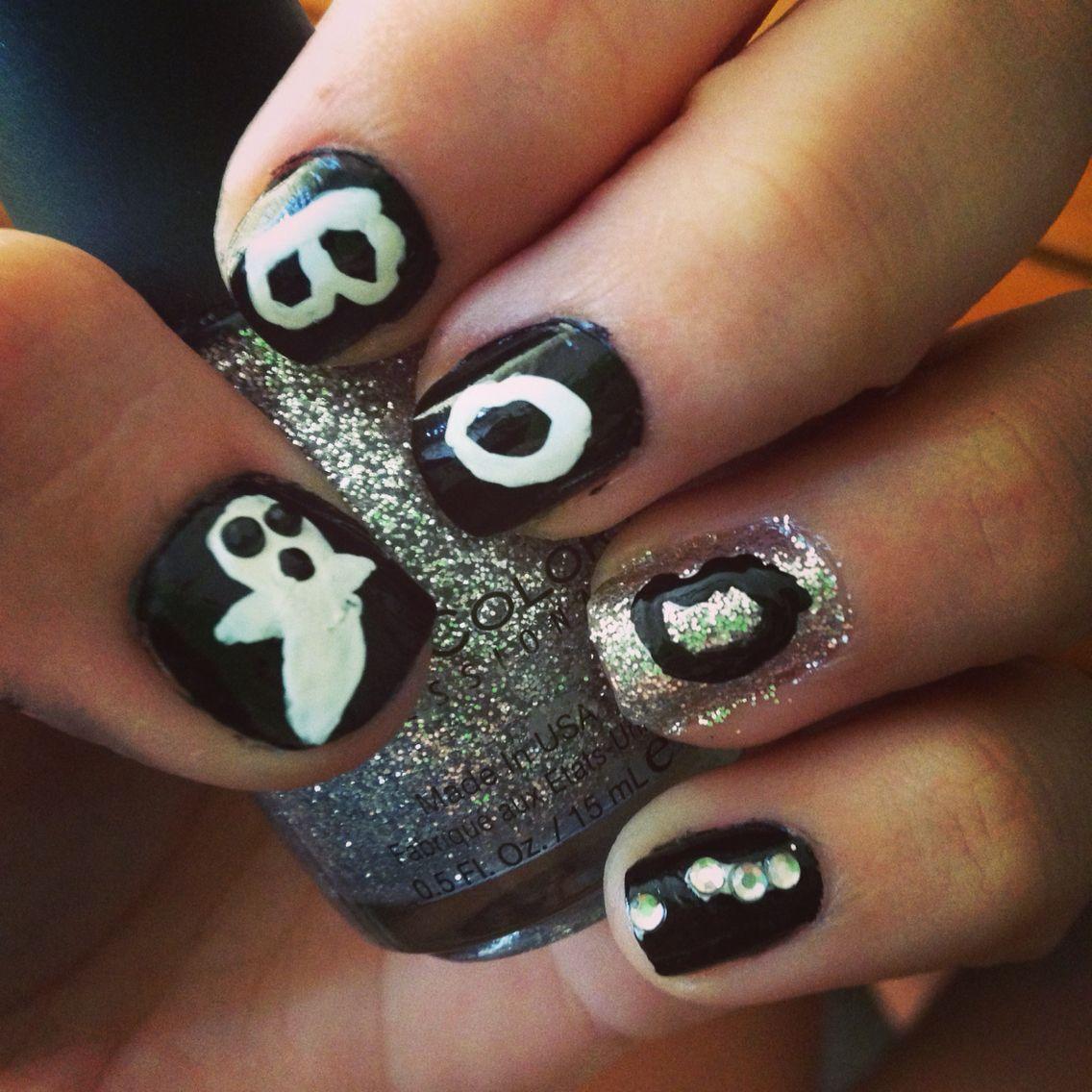 Ghost Halloween nails! | Nails, Halloween nails, Hair makeup