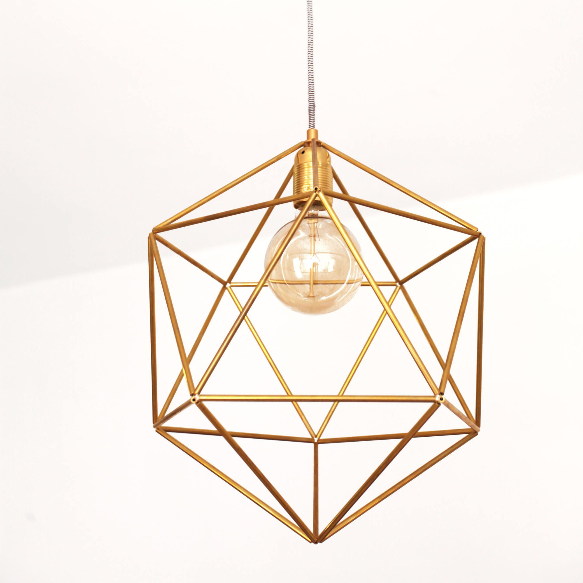 Large Ceiling Light Fixture Cage Brass Pendant Lamp Shade Geometric Chandelier Light Modern Mid Century Dining Room Lighting Icos18 Ceiling Lights Modern Ceiling Light Dining Room Lighting