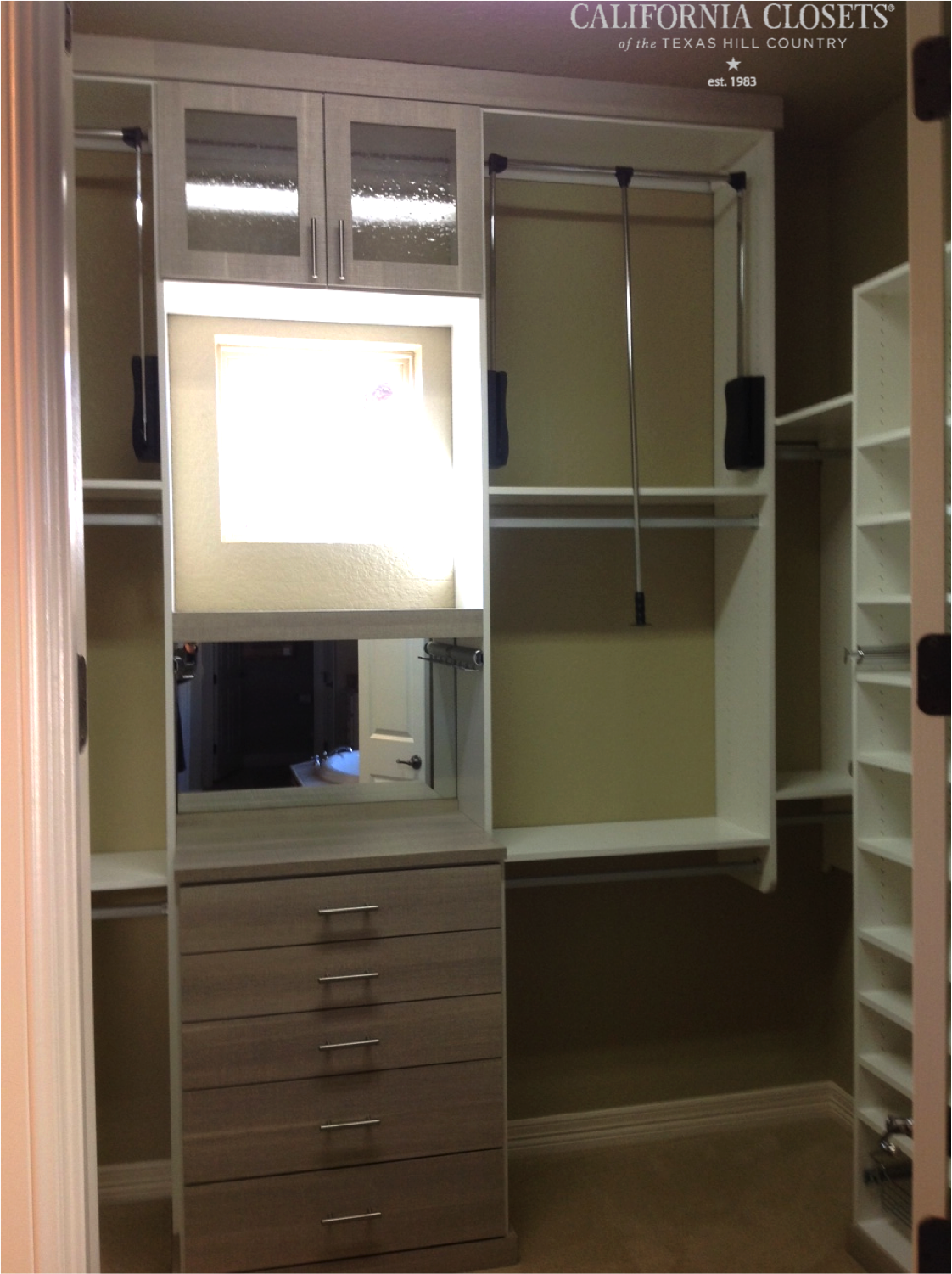 Love This Combination Of Our Ivory U0026 Pietra Finishes In This Simple  #closetdesign! #