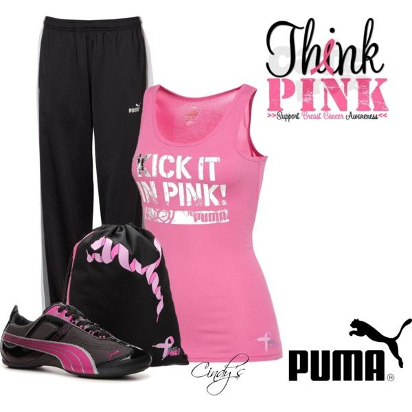 """""""Project Pink Kick It Tank Top"""" by cindycook10 on Polyvore"""
