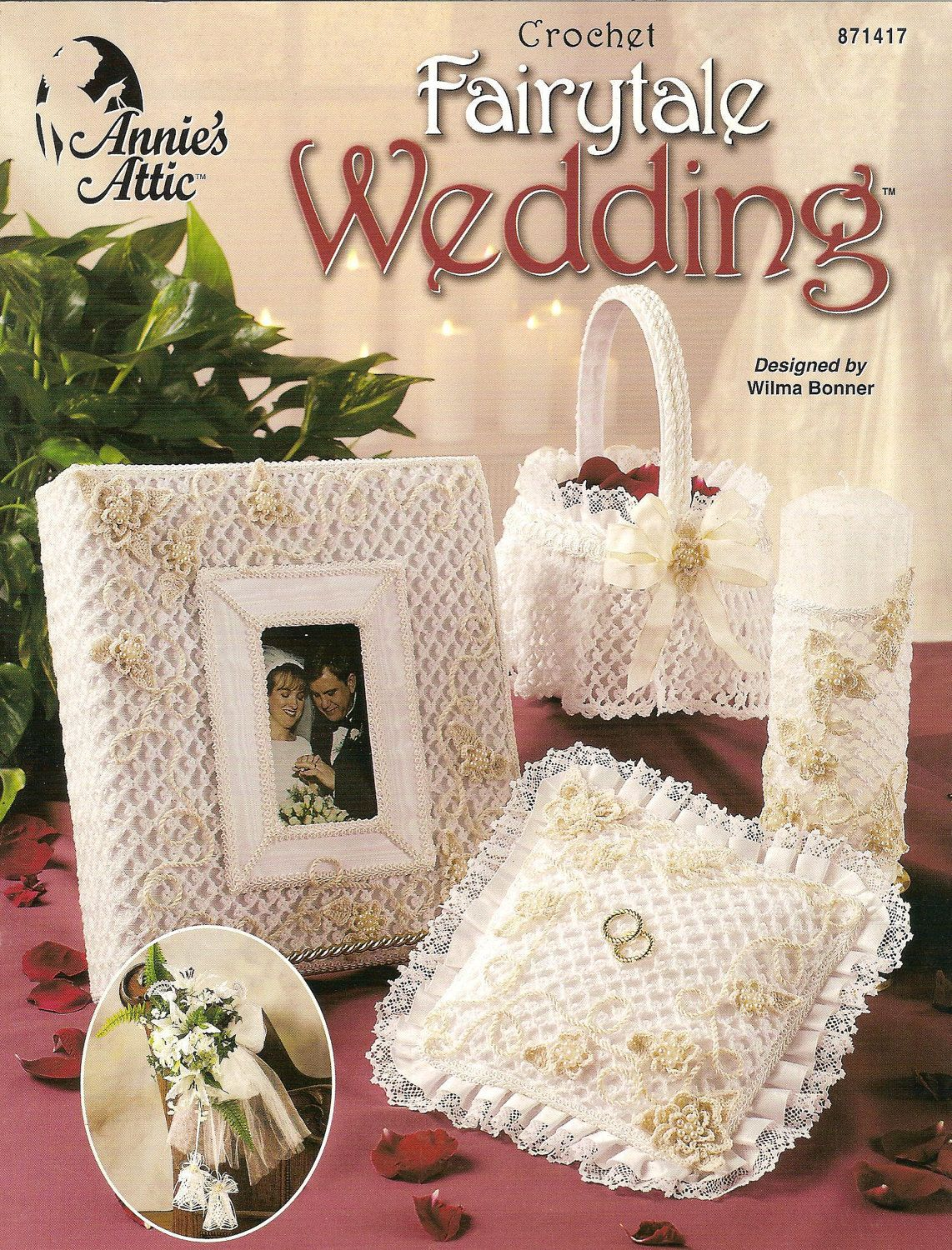 Free Crochet Pattern Flower Girl Basket Crochet Ring Bearers Pillow