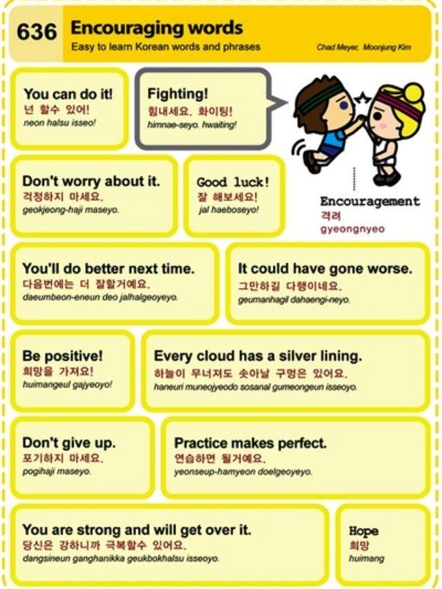 Korean Korean Words Learn Korean Korean