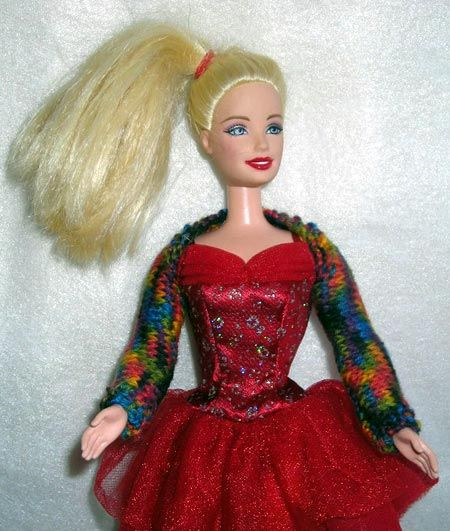 Barbie Doll Shrug Knitting Pattern Doll Amigurumi Diy Craft Food