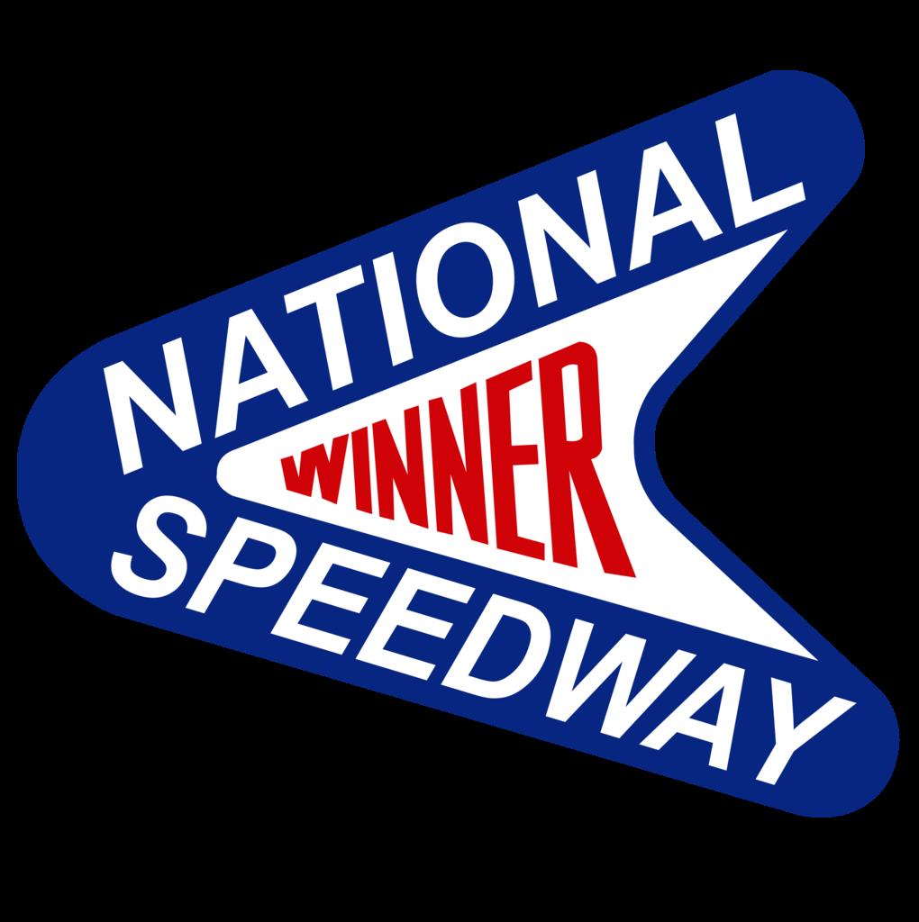 National speedway winner new york drag strip car sticker