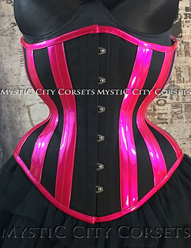59472ff8330 The handling of the PVC is remarkably good for OTR. NEW MCC-95 COTTON PVC  UNDERBUST CORSET TIGHTLACING WAISTTRAINING MYSTIC CITY  MYSTICCITYCORSETS   LaceUp