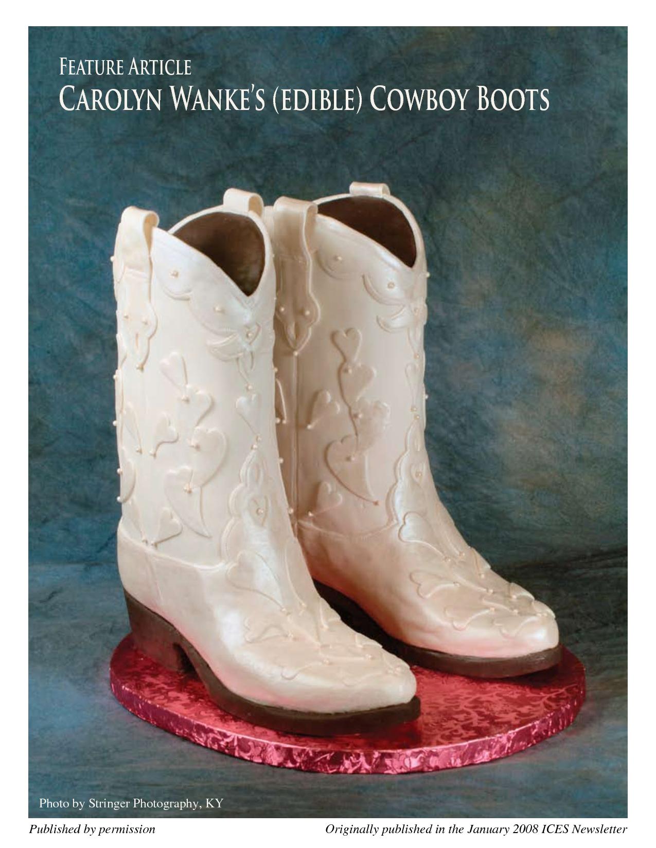 Cowboy Boot Cake Template | Carolyn Wankes _edible_ Cowboy Boots ...