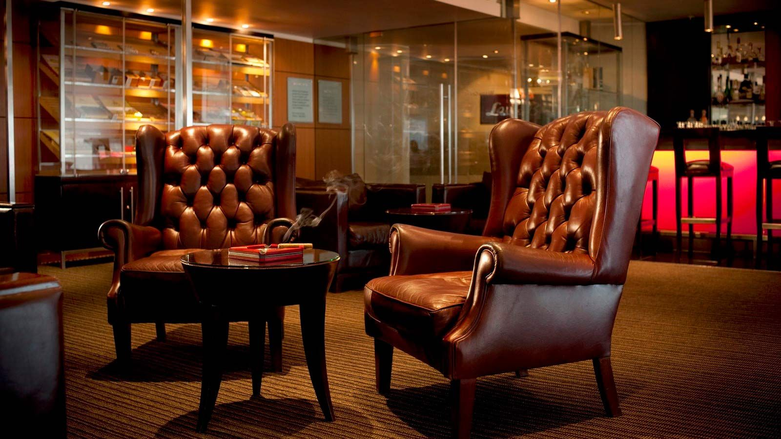 Raleighs cigar bar the westin cape town photo video for Recover furniture cape town