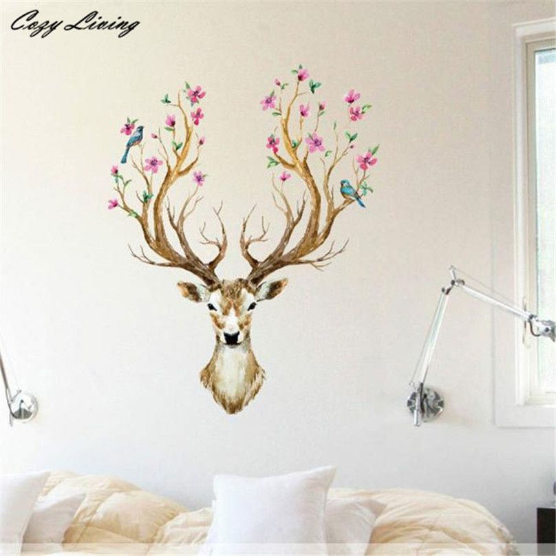 Wallpaper Sticker Deer Bedroom Living Room Background Wall Sticker