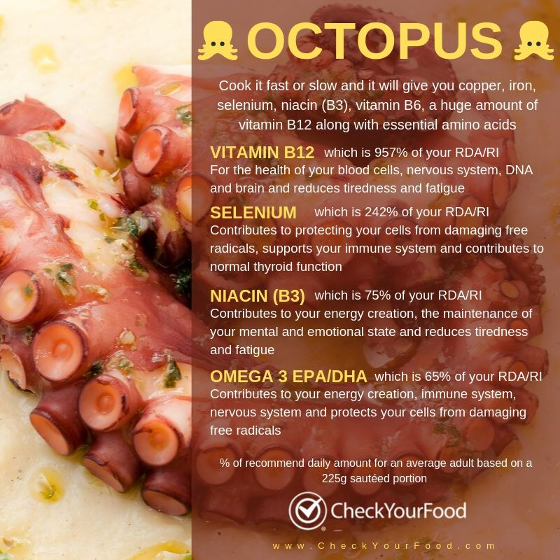 the health benefits of octopus with images