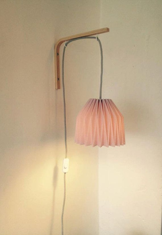 lamp wall sconce in origami envie pinterest deco. Black Bedroom Furniture Sets. Home Design Ideas