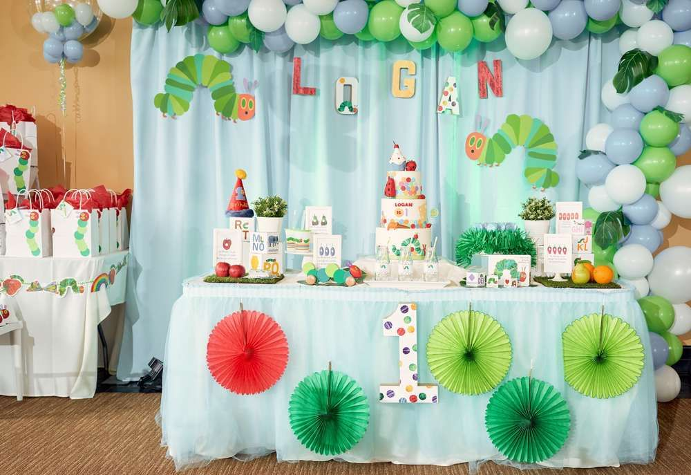 The Hungry Caterpillar Party Decorations  from i.pinimg.com
