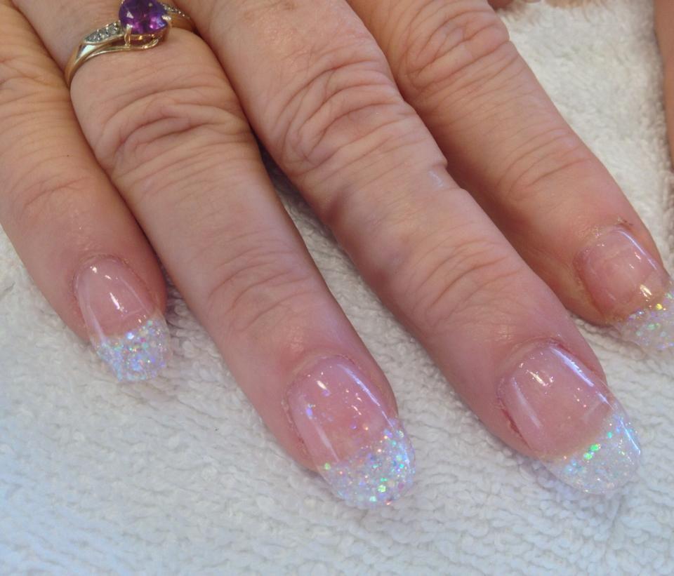 Tammy Taylor: Acrylic Dazzle Rocks White   Re-Pin Nail Exchange ...