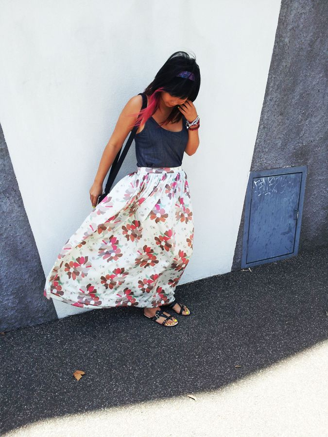 301fb0d0 Pretty Quirky Pants | 50's Skirt Adventure #3 - DIY Silk Maxi ...