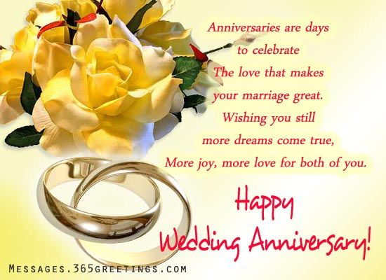 Wedding Anniversary Wishes and messages Anniversary message - print anniversary card
