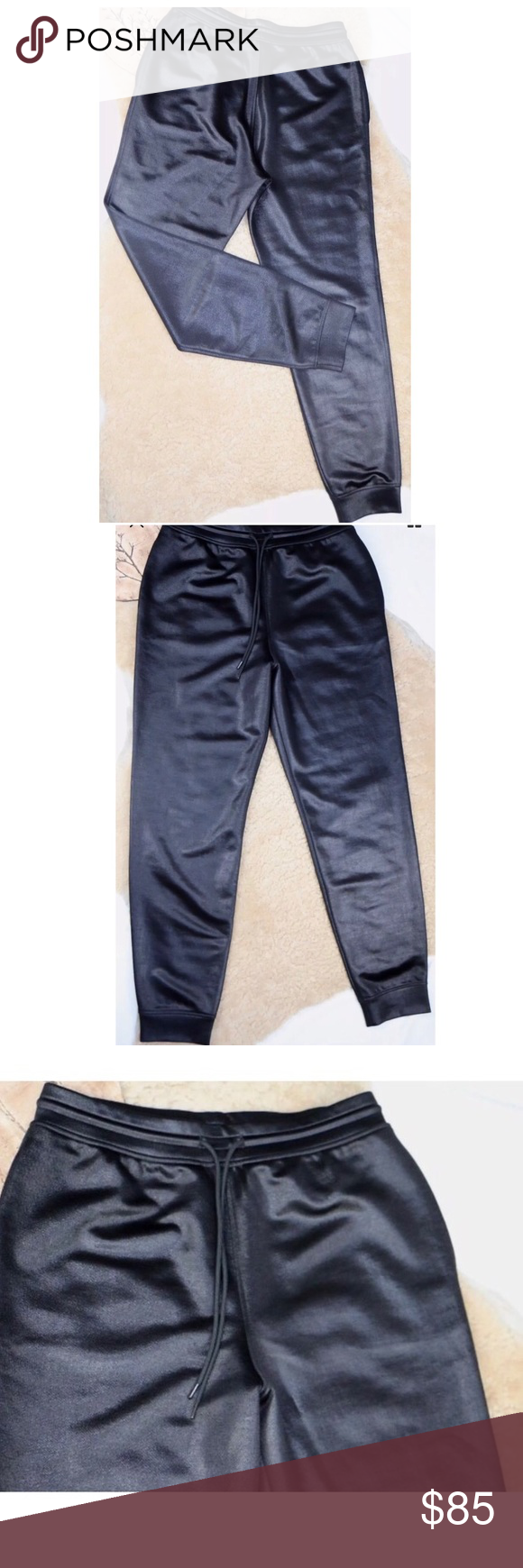 Alexander Wang joggers Black medium Medium and in perfect condition waist when not stretched one side is 15 inches and 40 1/2 inches long Alexander Wang Pants Track Pants & Joggers