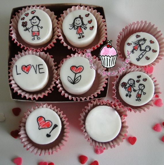 Get Inspired With These Cool Themed Cup Cakes U0026 Valentine Cupcake  Decorating Ideas Easy To Bake And To Decorate. Happy Valentines Day With  Romantic Ideas.