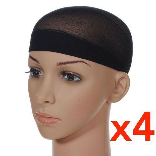e791393fa4b ESSENTIAL SALES4YOU 4 Pcs Unisex Stock Mesh Wig Cap Hat Nylon Stretch  Elastic Snood Black 4Pcs Mesh Wig Cap Black   Learn more by visiting the  image link.
