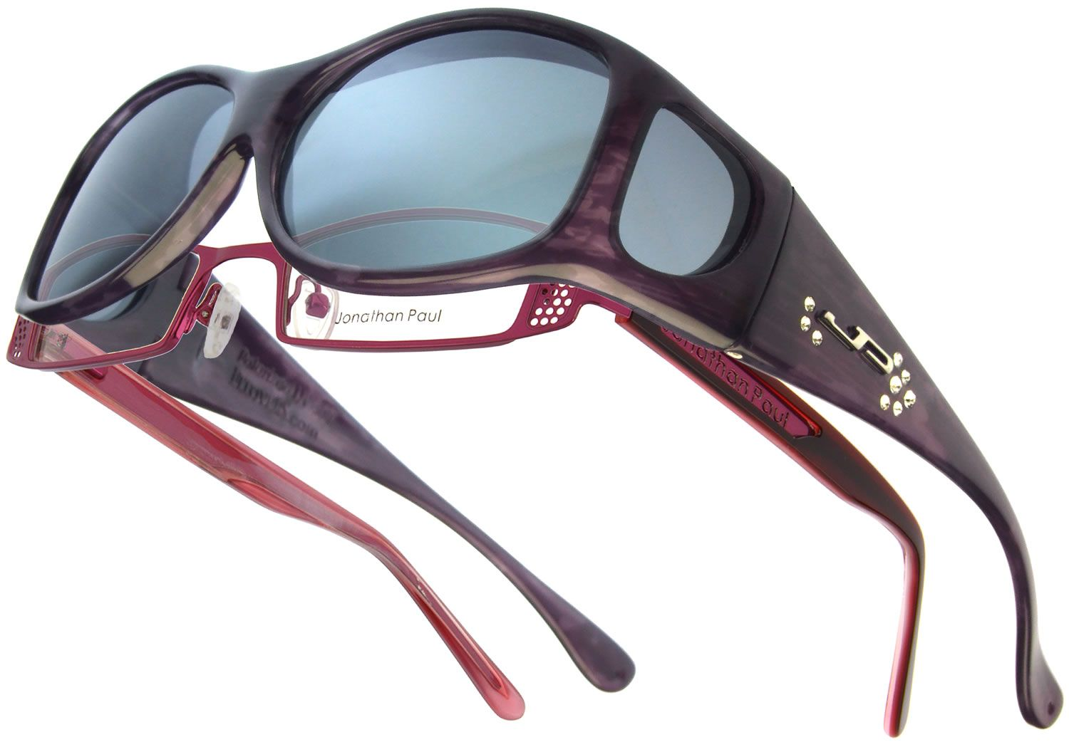 b79fb46ffe Glides Purple Haze with Crystals from Swarovski® (Polarvue® Gray) - Fitover  Sunglasses that are specifically designed to fit over prescription glasses  with ...