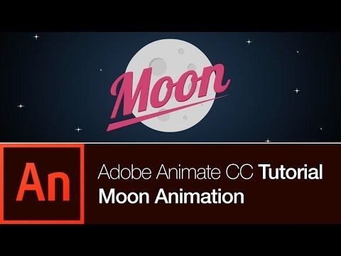 Animate CC Tutorial Create the Moon Animation FREE DOWNLOAD