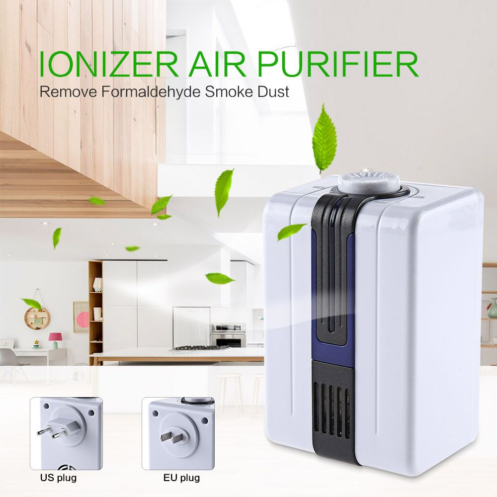 Ionizer Air Purifier Negative Ionizer Generator Durable Quiet Air Purifier Remove Formaldehyde Smoke Dust Air Purifier For Home Air Purifier Ionizer Purifier