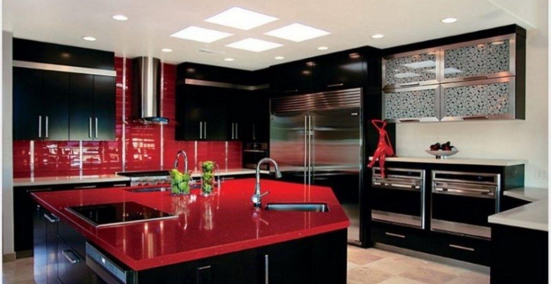 Kitchen Islands Modern Ideas Red Kitchen Cabinets Black Kitchen Decor Replacing Kitchen Countertops