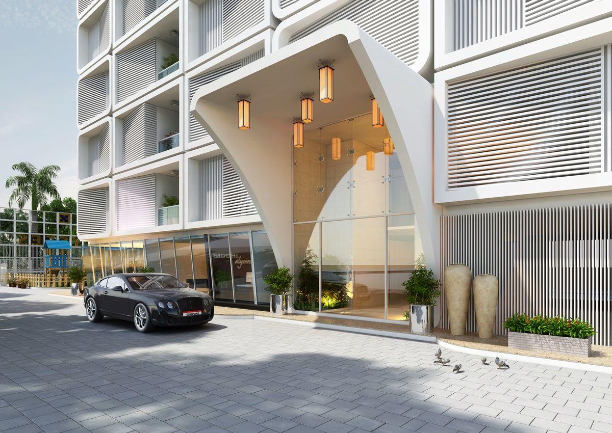 Exterior: 3d #Architectural #Classic #Hotel Exterior Design