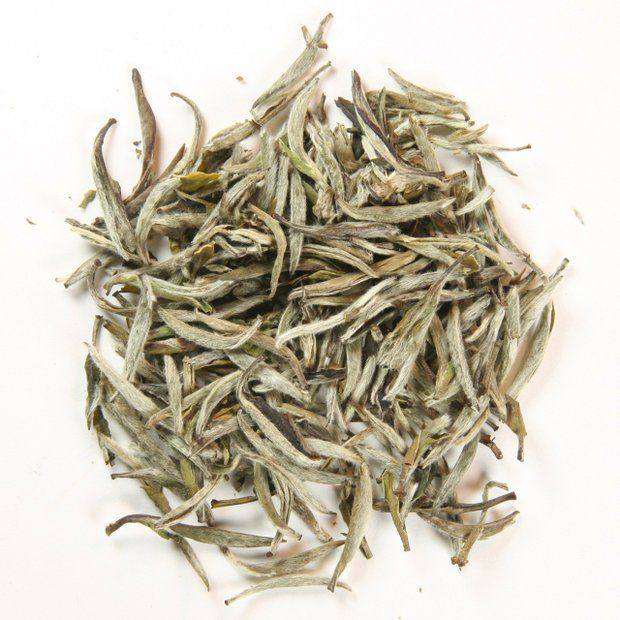 """Bai Hao Yin Zhen Silver Needle 白毫银针 A favorite of the """"Tea Emperor,"""" this ancient, top-quality white tea is as beautiful as it is delicious. Also known as: Baihao Yinzhen, White Hair Silver Needle, White Pekoe Silver Needle Origin: Northern region of Fujian province in southeast China Type: Chinese white tea Appearance: Buds are large,Read More"""