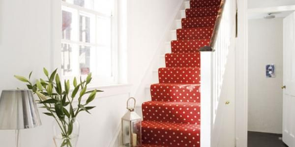 Best Red With White Dots Polka Dot Stair Carpet Www 640 x 480