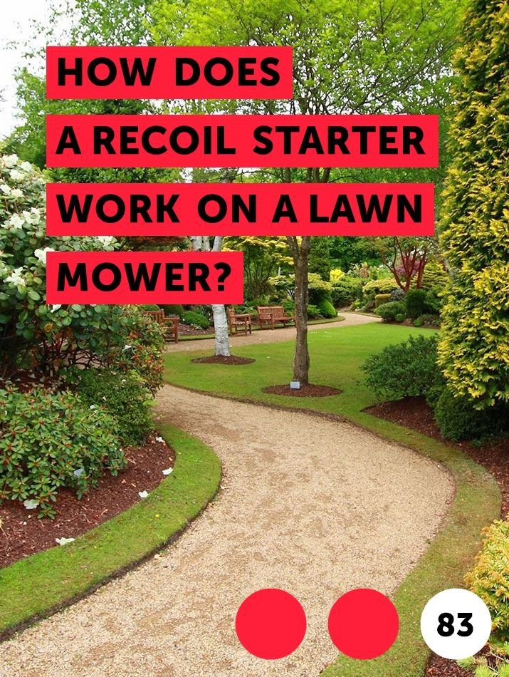 How Does a Recoil Starter Work on a Lawn Mower? | Getting ...