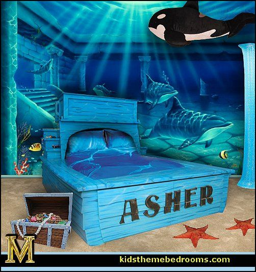 Kids Love Themed Bedroom Sets: Whale Theme Bedroom Ideas
