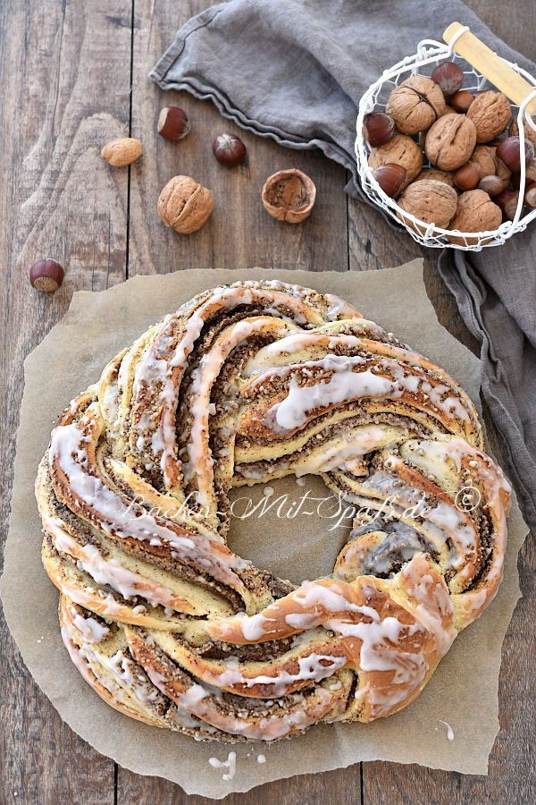 Nusskranz  #hefeteig #hefekranz #nusskranz  The post Nusskranz appeared first on Suppen Rezepte. #wreaths