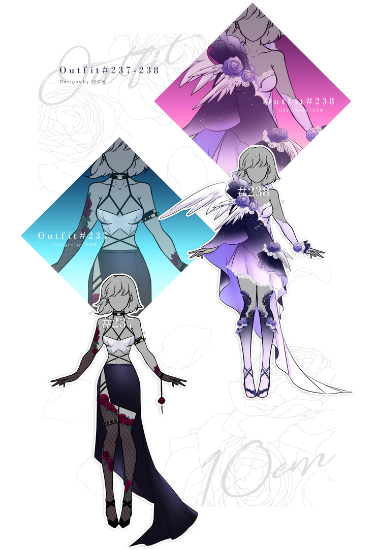 Auction : OUTFIT #237-238 [OPEN] by Popza10CM | Character design  inspiration, Fantasy clothing, Anime outfits